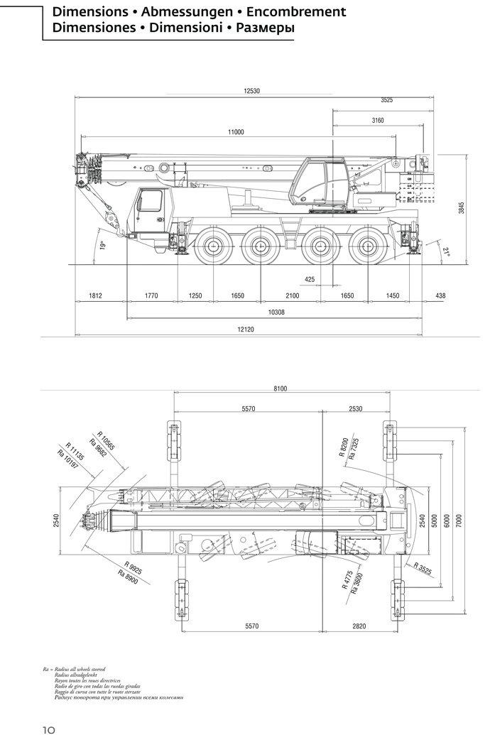 Mobile Crane 50 Ton Dimension : Borger cranes