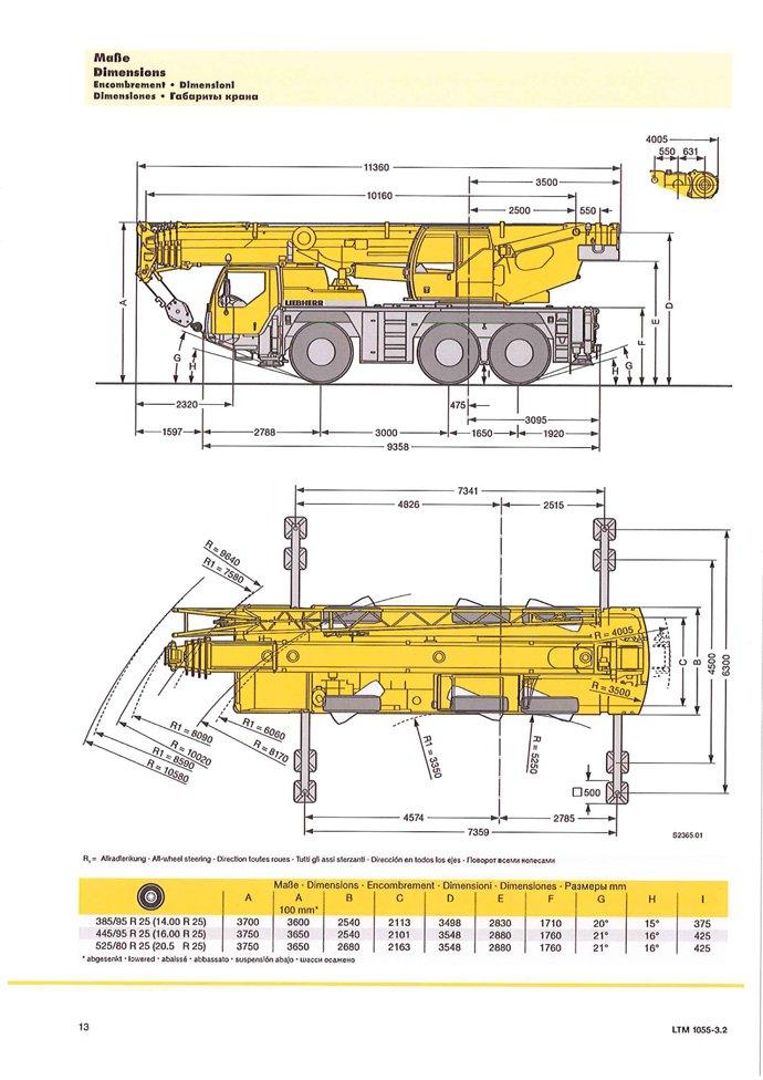 unit 660   liebherr ltm 1055 3 1   all terrain mobile crane   55 ton