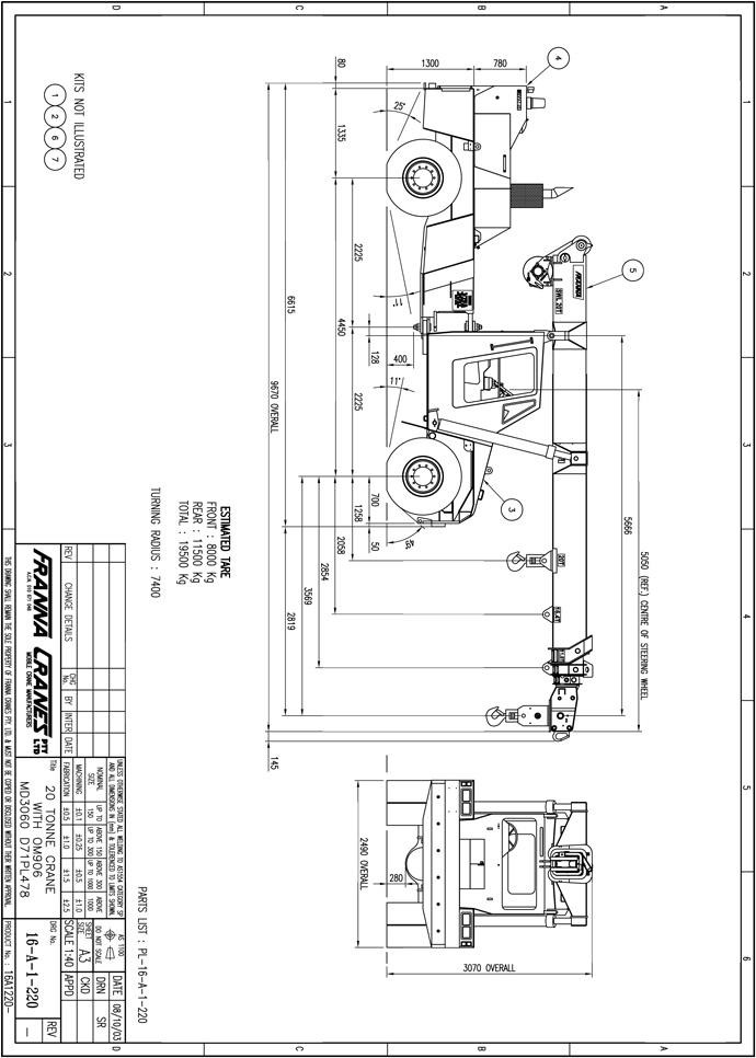 Mobile Crane 50 Ton Dimension : Tonne franna dimensions crafts